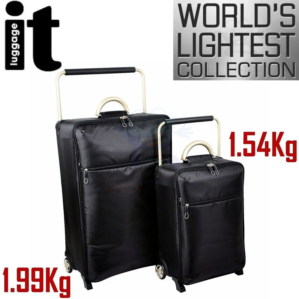 Worlds Lightest Trolley Case Suitcase Travel Bag Wheels Set New