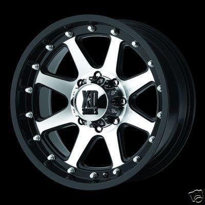 Inch BLACK Addict XD798 RIMS Dodge Chevy Ford Truck 8 Lug Wheels 20x9