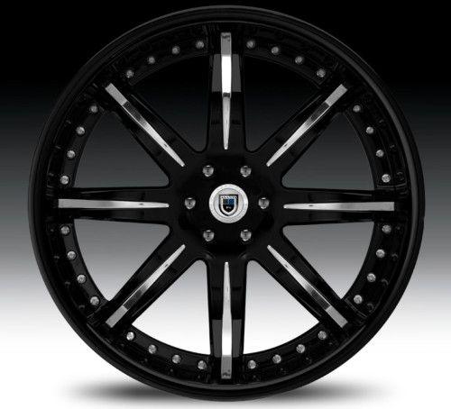 20 asanti AF161TRUCK Black Chrome Wheels Rims 3 Piece