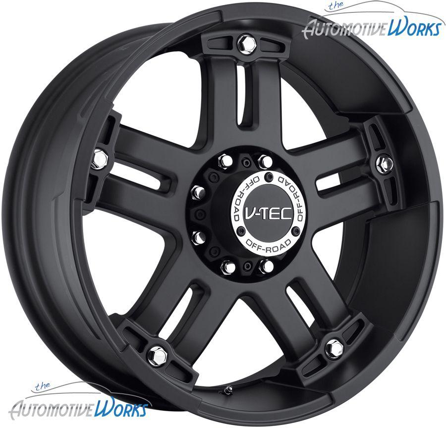 18x9 V Tec Warlord 8x180 12mm Matte Black Wheels Rims inch 18
