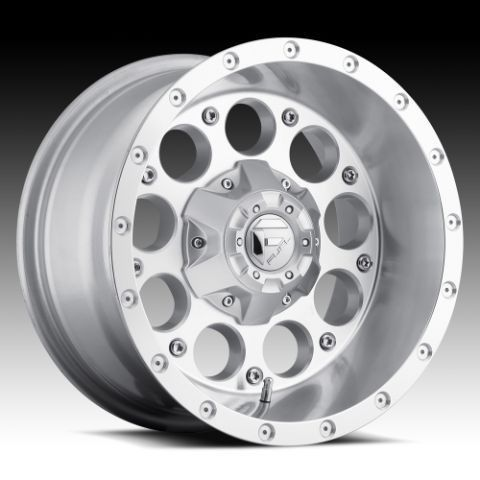 Revolver 18x9 0 Silver Machined Wheel Set Truck Rims Wheels
