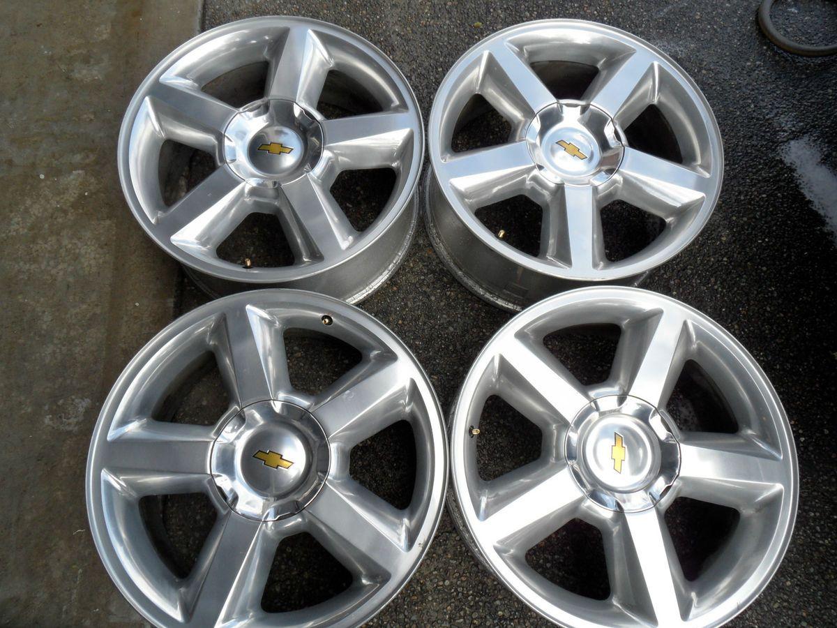 Factory Chevy Tahoe LTZ Silverado 20 Polished Wheels Rims GMC