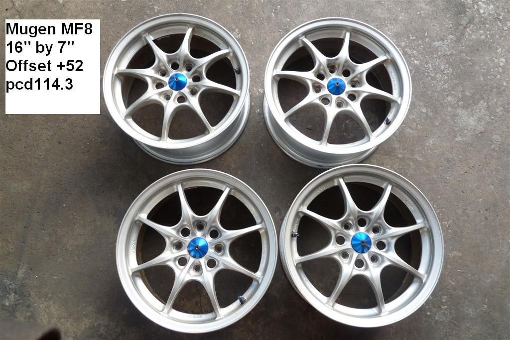 JDM Mugen MF8 MF 8 16 Wheels Rims PCD114 3 Civic Integra Type R ITR