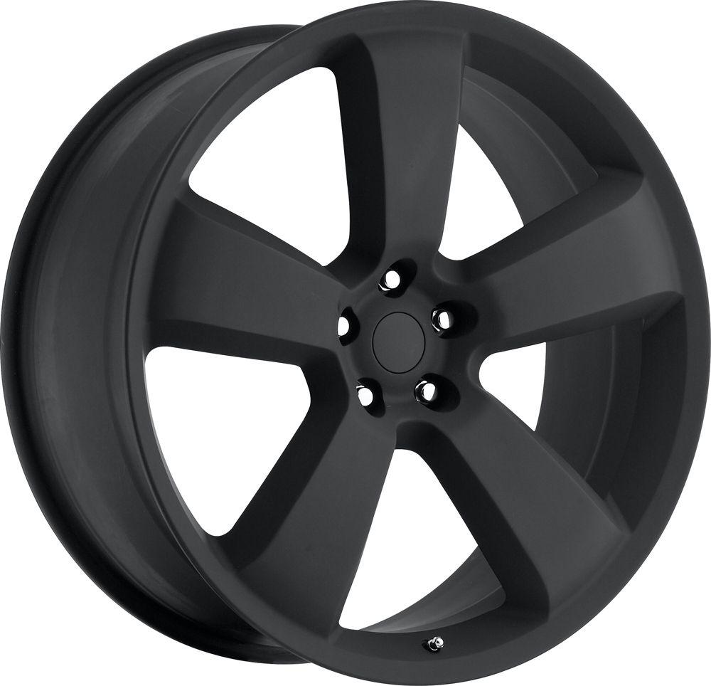 Flat Black Charger SRT8 300 Magnum Challenger Wheels Rims Set 4