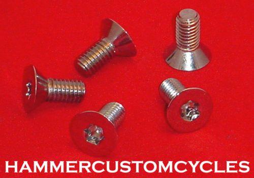 16x3 4 Torx Flathead Chrome Bolts Harleys Tapered Head USA Made