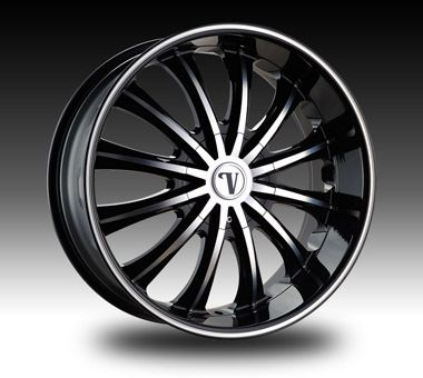 VW15 Dub Wheel Set Black Rims 24x8 5 VW15 Rim Chevy Tahoe Yukon