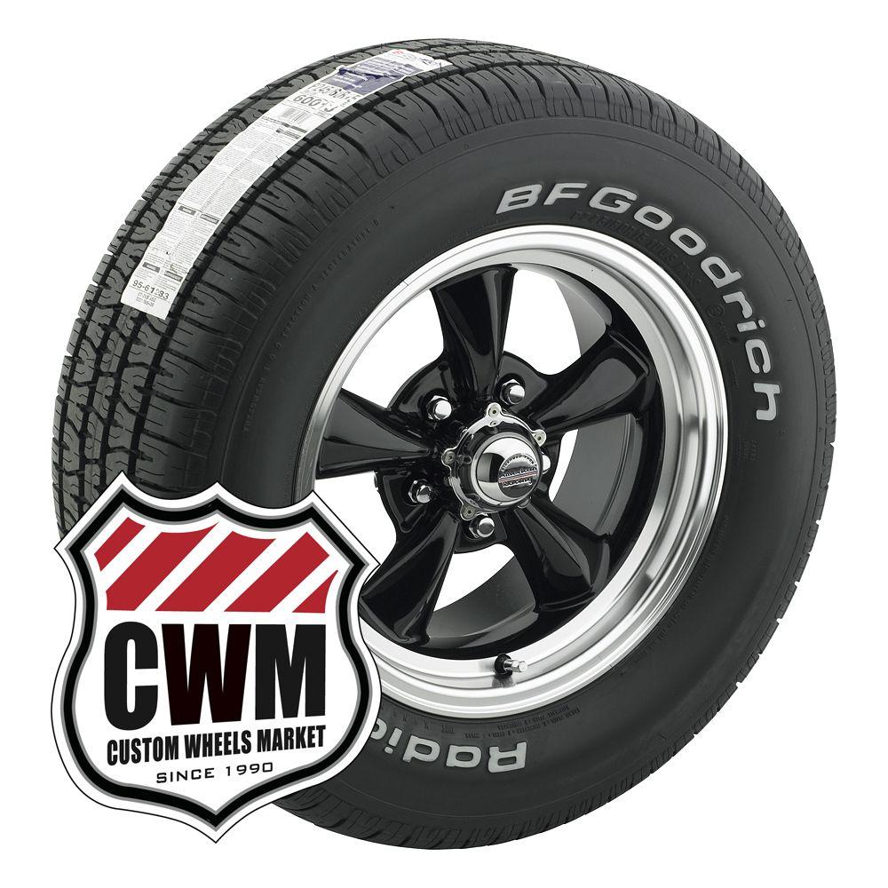 15x7 15x8 Black Wheels Rims Tires 215 65R15 245 60R15 for Ford