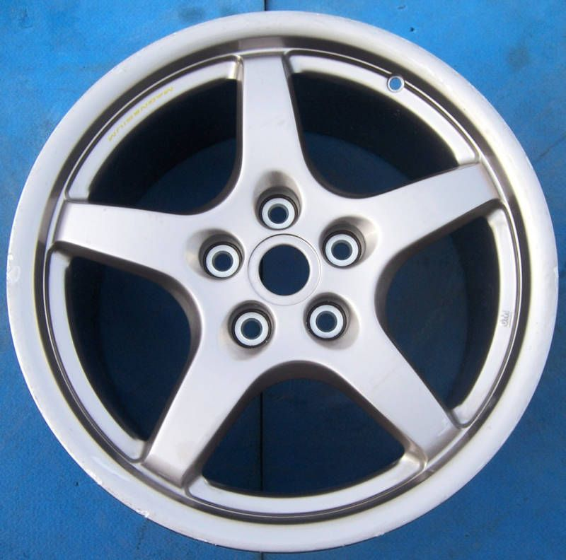 2000 2001 2002 2003 2004 CORVETTE MAGNESIUM 18 FACTORY WHEEL RIM REAR