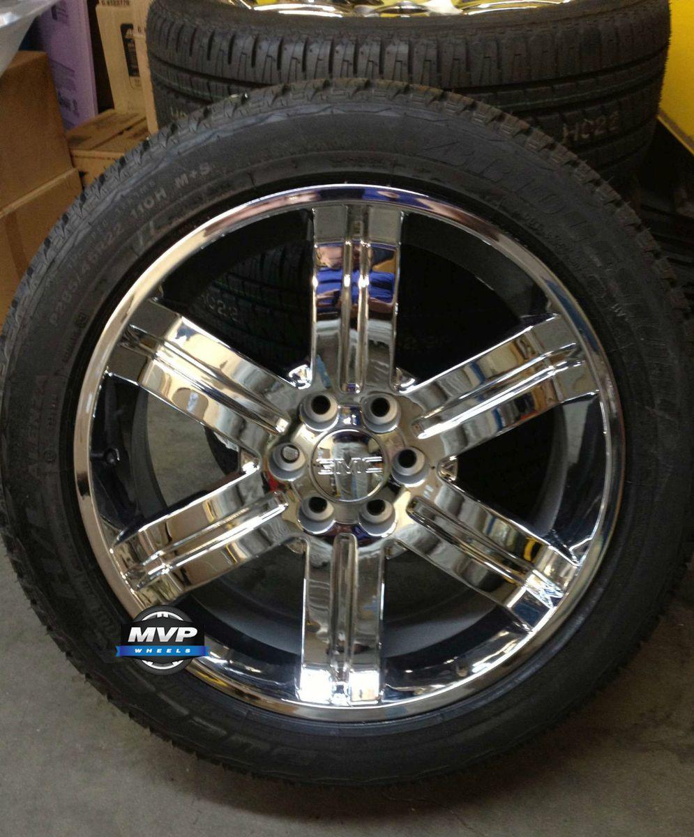22 GMC Chevrolet Cadillac Wheels CK919 Tires 285 45 22 New