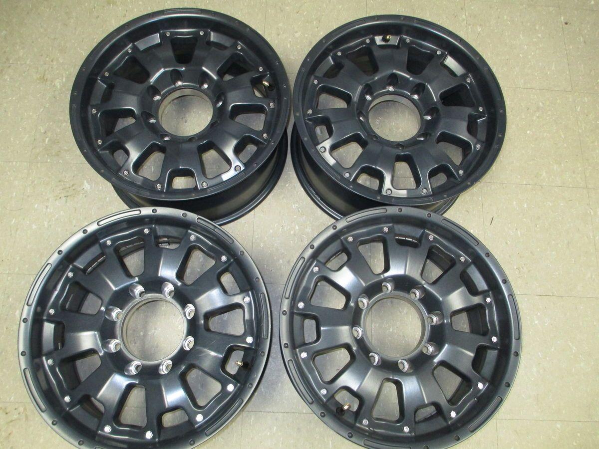 Racing ATX matte black wheels rims 18x8 5 8 lug gun metal F250 F350