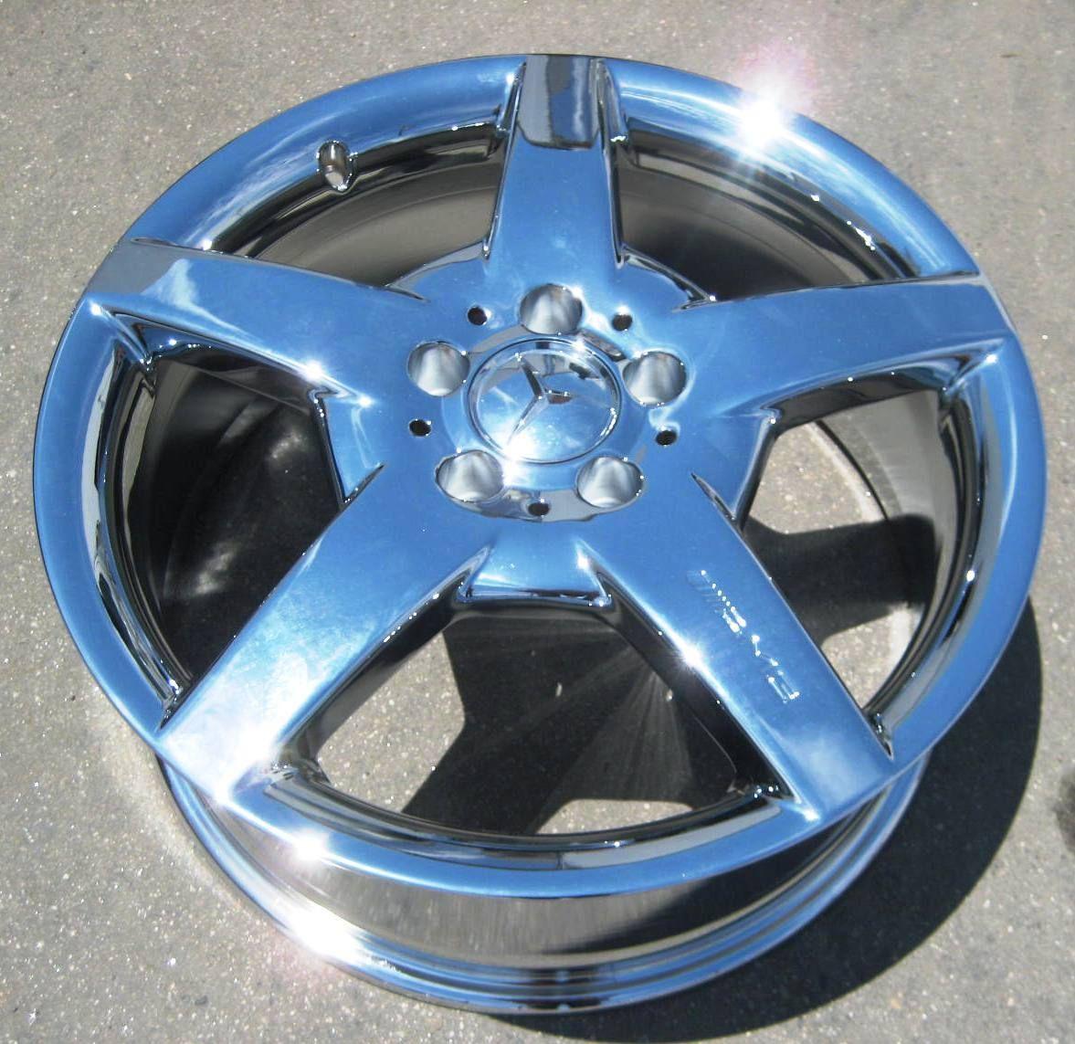 Mercedes CLK500 CLK55 CLK63 CLK550 AMG Chrome Wheel Rim 1 Front